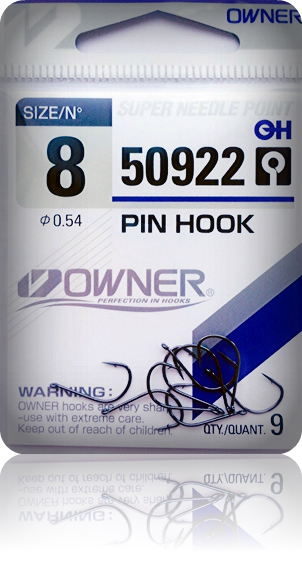 Крючки Owner 50922 BC №8 Pin Hook (9шт.) ow-50922BC-8