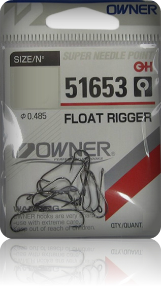 Крючки Owner 51653 BC №8 Float Rigger MH-12