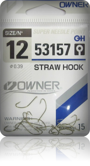 Крючки Owner 53157 Brown №14 Straw Hook (15шт.) ow-53157BR-14