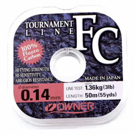 Леска Owner Fluorocarbon Tournament Line 0,14 мм
