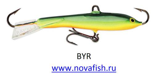 Балансир Rapala, W07-BYR, Black Yellow Red