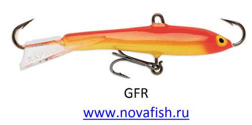 Балансир Rapala, W05-GFR, Gold Fluor. Red
