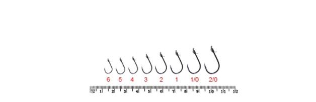 размеры крючков owner S-344