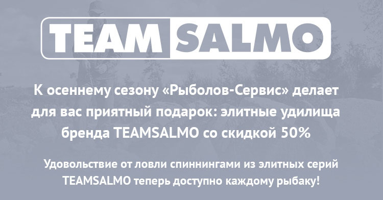 Скидка 50% к осеннему сезону на спиннинги TeamSalmo